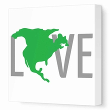North America Love Canvas Wall Art