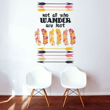 Not All Who Wander Are Lost Wall Decal