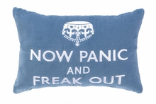 Now Panic & Freak Out Velvet Embroidered Pillow - Set of 2