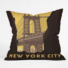 NYC Manhattan Bridge Throw Pillow
