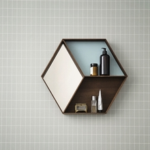 Oak Wall Wonder Mirror with Shelves