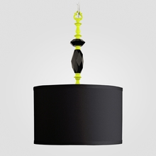 Octavia Neon Yellow Black Crystal Pendant