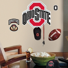 Ohio State Peel & Stick Giant Wall Decal with Hooks