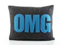OMG Recycled Felt Throw Pillow