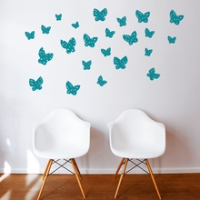 Minna Butterfly in Green Wall Decal