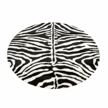 Narrow Striped Zebra Round Rug