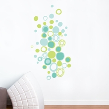 Turquoise Polka Dots Wall Decal