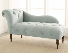 One Arm Tufted Chaise Lounge