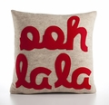 Ooh La La Recycled Felt Throw Pillow