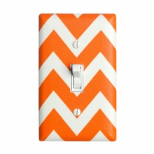 Orange Chevron Light Switch Plate Cover
