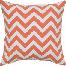 Chevron Throw Pillow in Orange