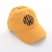 Orange Monogram Baseball Cap