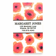 Orange Poppy Personalized Luggage Tag Set