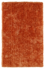Orange Posh Shag Rug