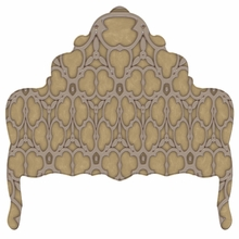 Ornate Pewter Filligree Headboard Wall Decal for Queen Bed