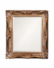Ornate Wood Framed Mirror - Antique Bronze
