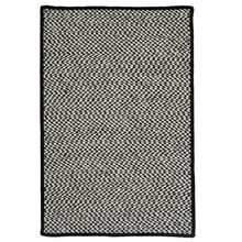 Outdoor Houndstooth Rug in Black