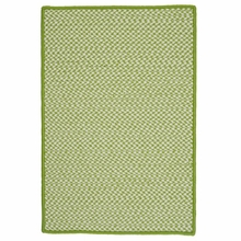 Outdoor Houndstooth Rug in Lime