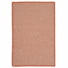 Outdoor Houndstooth Rug in Orange