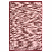 Outdoor Houndstooth Rug in Sangria