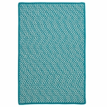 Outdoor Houndstooth Rug in Turquoise