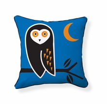 Owl Reversible Throw Pillow