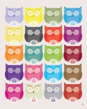 Owl Rainbow Canvas Wall Art