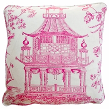 Pagoda Raspberry Throw Pillow