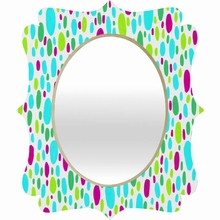 Paint Daubs 4 Quatrefoil Mirror