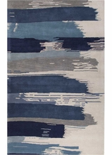 Painterly Rug in Blue