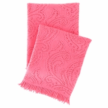 Paisley Lace Azalea Throw Blanket