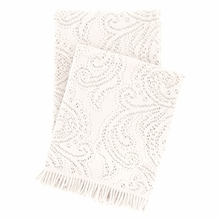 Paisley Lace Ivory Throw Blanket