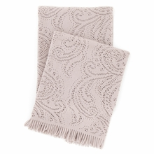 Paisley Lace Stone Throw Blanket