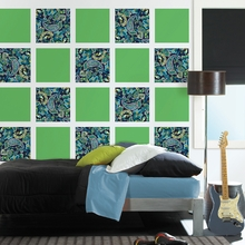 Paisley Please Blox Wall Decals - Blue & Green