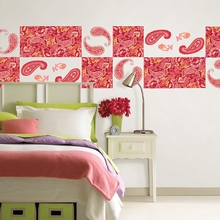 Paisley Please Blox Wall Decals - Red & Pink