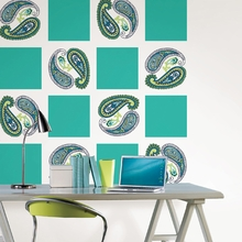 Paisley Please Dot Wall Decals - Blue & Green