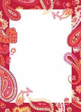Paisley Please Red-Pink Peel & Stick Dry-Erase Board