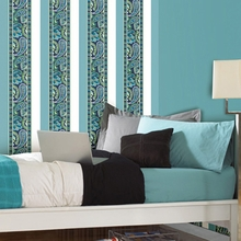 Paisley Please Stripe Wall Decals - Blue & Green