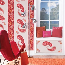 Paisley Please Stripe Wall Decals - Red & Pink