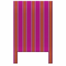 Pajama Stripes Magenta & Orange Headboard Wall Decal for Twin Bed
