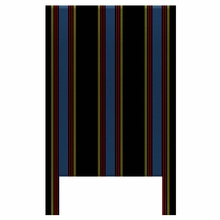 Pajama Stripes With Black, Blue & Red Headboard Wall Decal for Twin Bed
