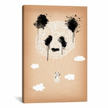 Panda Hot Air Balloon Canvas Wall Art