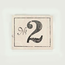 Panel Art Small Wood Board - Numbers