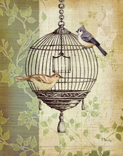 Paris Flea Market Bird Cage I Canvas Wall Art
