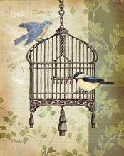 Paris Flea Market Bird Cage II Canvas Wall Art