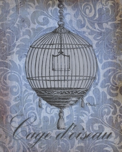 Parisian Market Bird Cage Canvas Wall Art
