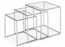 Pasos Nesting Tables in Clear - Set of 3