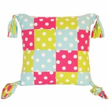 Patch Zebra and Dots Multicolor Pillow