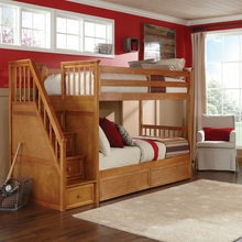 Hickory Stair Twin Bunk