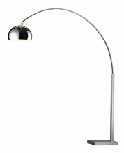 Penbrook Arc Lamp in Silver Plated & White Marble